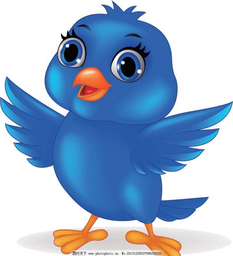 卡通动物小鸟图片