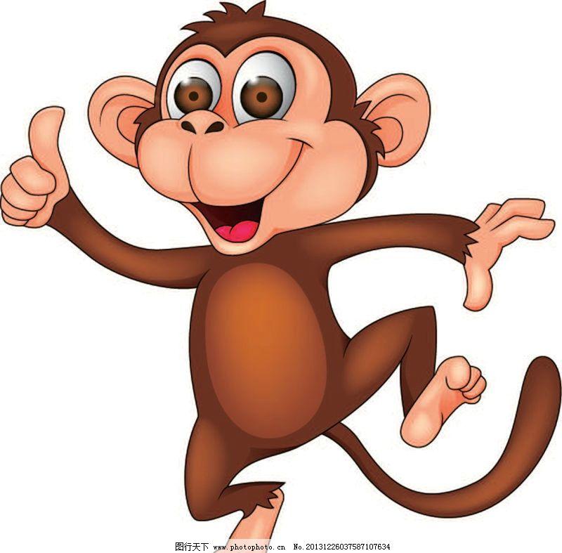 猴子卡通动物 猴子 卡通动物 动画片 儿童 通话 可爱 小动物 野生动物