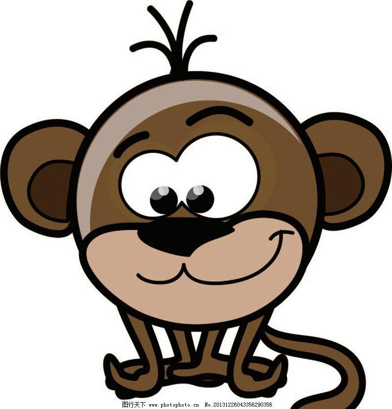 猴子 卡通动物 动画片 儿童 通话 可爱 小动物 野生动物 动物卡通