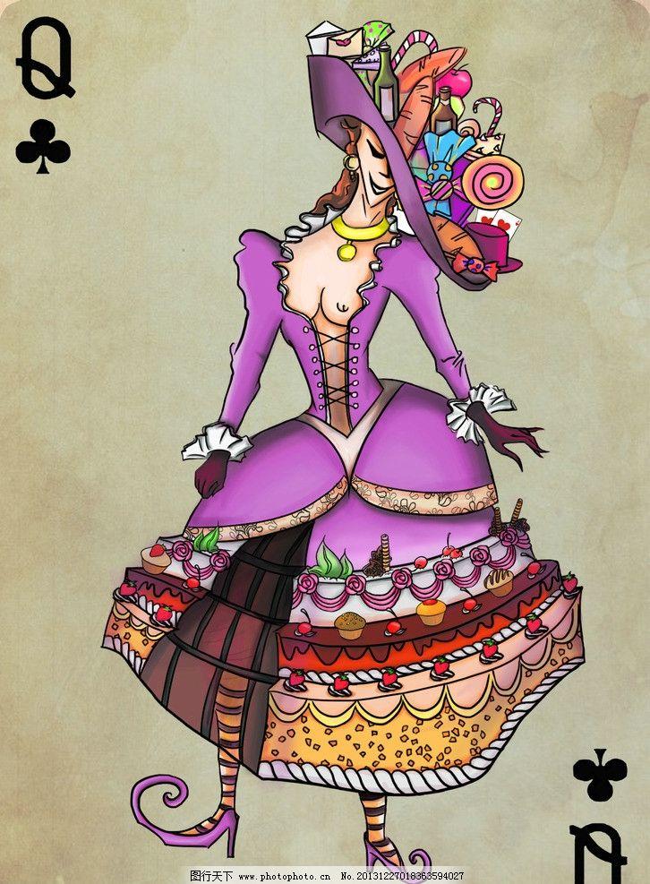 人物设计 人物 女性 欲望 扑克牌 动漫人物 动漫动画 设计 300dpi jpg