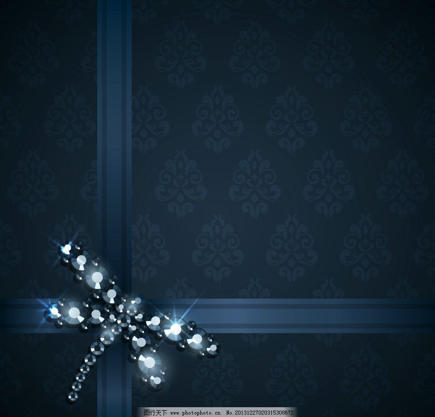 钻石花纹 钻石 宝石 蜻蜓 欧式花纹 古典花纹 时尚花纹 梦幻花纹 对称