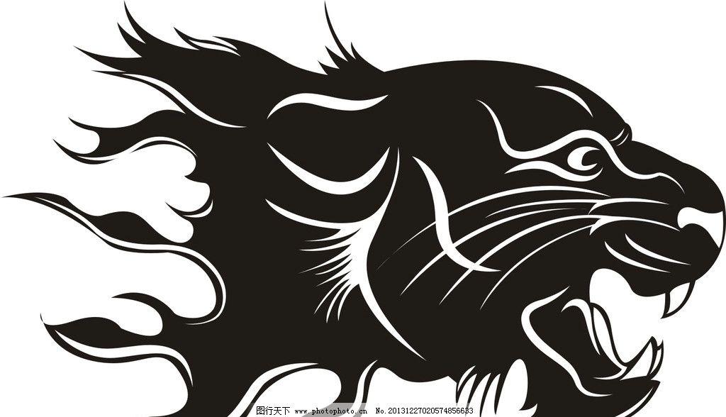 老虎头 老虎 百兽之王 森林之王 野生动物 大老虎 猛虎 条纹线条 底纹