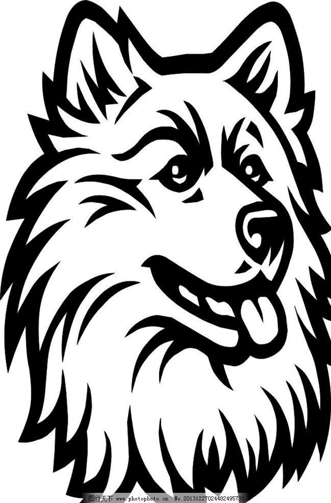 生肖 狗 矢量图 线描 宠物 野生动物 生物世界 矢量 cdr