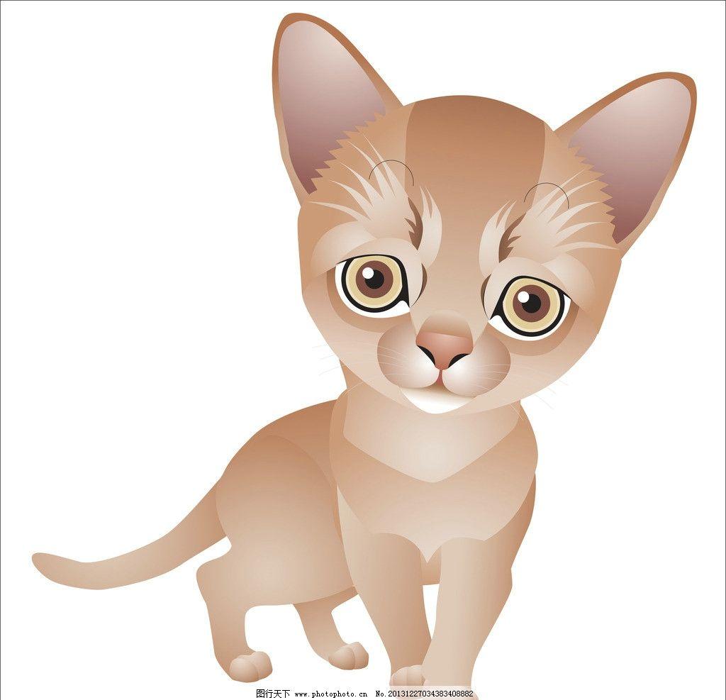 小猫 动物 可爱猫 猫咪 卡通 手绘画 插画设计 矢量卡通设计 矢量 ai