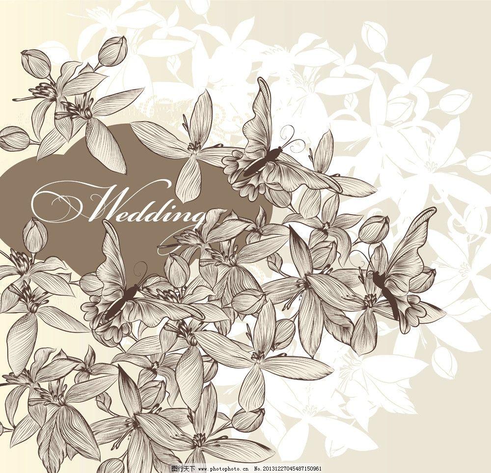 手绘花卉图片_艺术字体_字体_图行天下图库