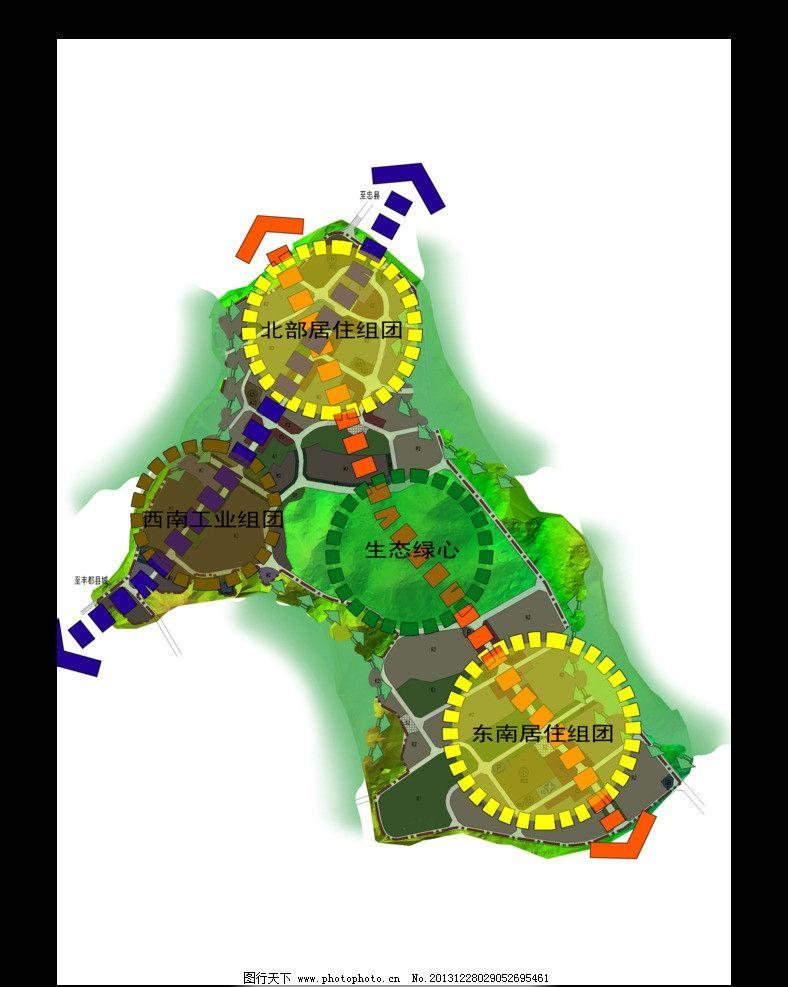 城市分析图 轴线 节点 平面 示意 其他设计 源文件