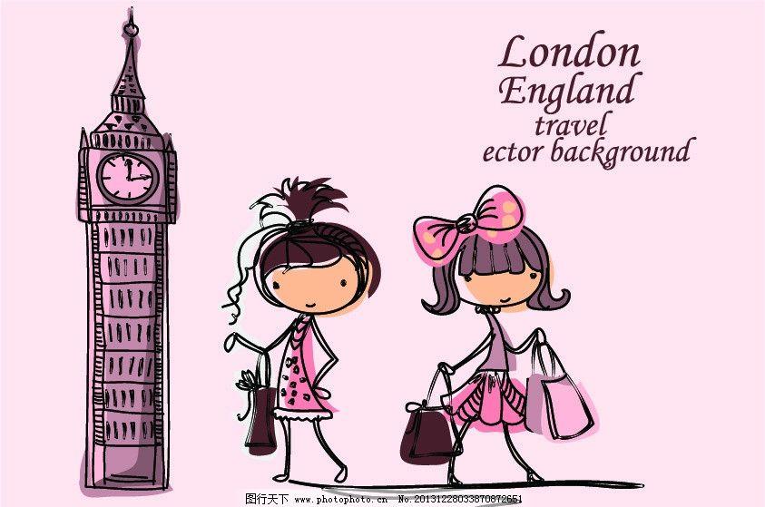 卡通时尚小女孩头像