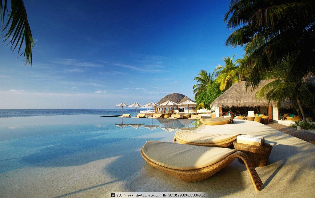 摄影唯美海景享受 木板 酒店 海边 海滩 沙滩 独特 草屋 风景名胜
