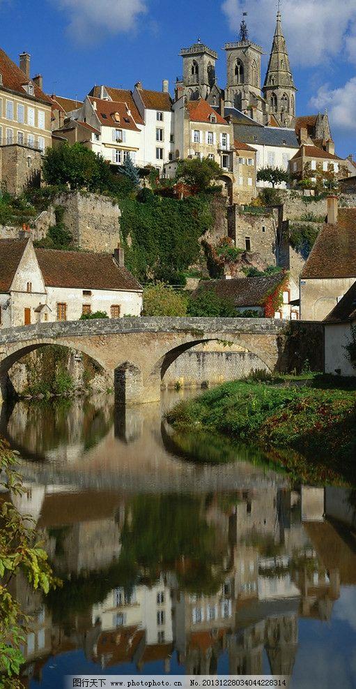 欧式城堡建筑小城市群 欧式建筑 欧式风格 碉堡 乡村气息 图片素材
