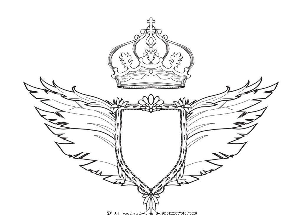 贵族标志 国王标志 翅膀 logo 古代符号 古代标志 符号 古欧洲 欧洲