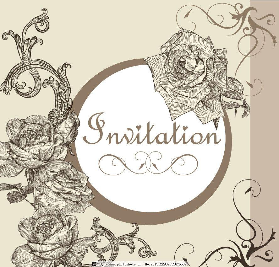 古典花纹 玫瑰 欧式花纹 线条花纹 时尚花纹 梦幻花纹 对称花纹 丝织
