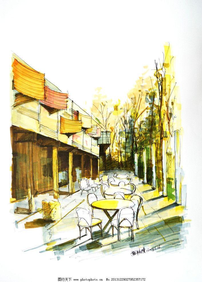 室内设计手绘稿 手绘 速写 马克笔 室内设计 餐厅 手绘稿 环境设计