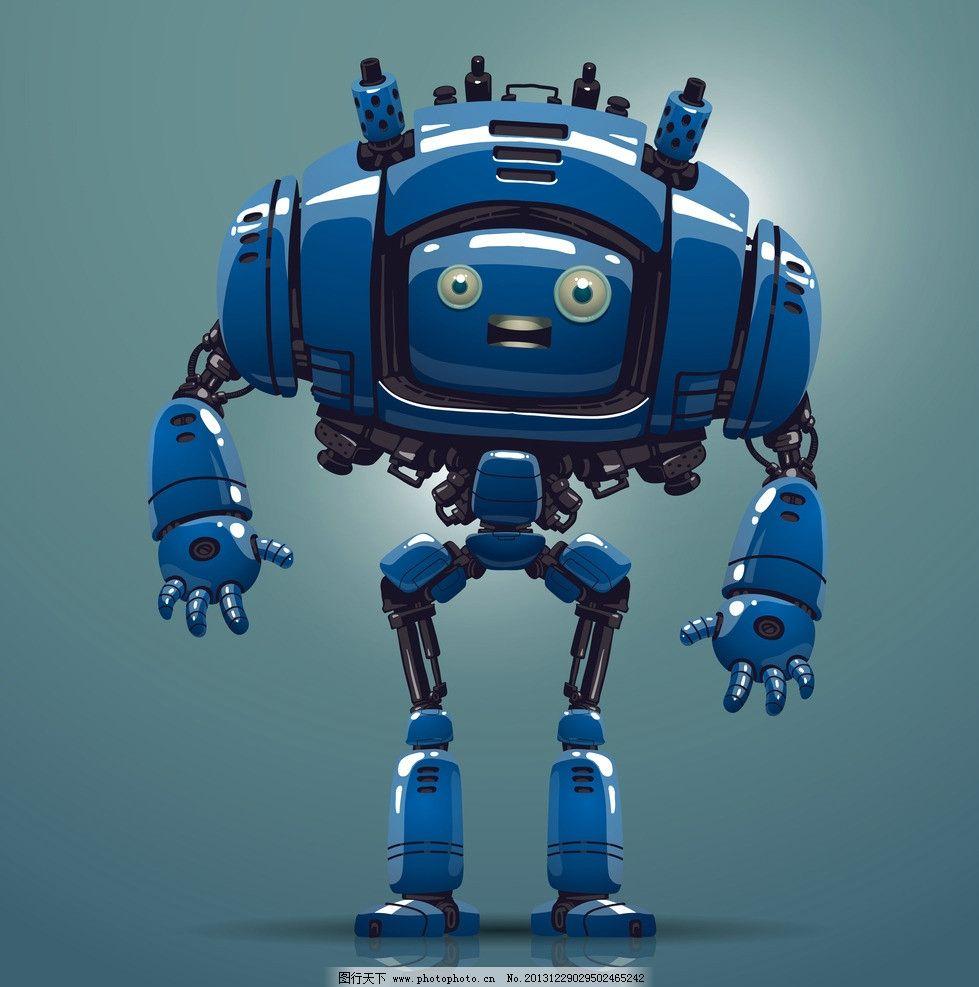 创意 创想 手绘 卡通机器人 3d机器人 矢量人物 矢量 eps 广告设计