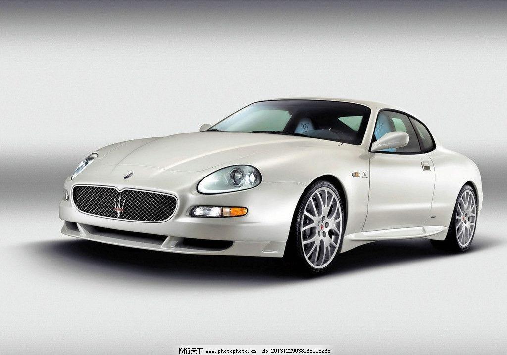 玛莎拉蒂 汽车 白色汽车 超级跑车 世界名车 摄影