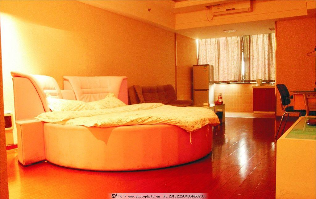 浪漫圆床房 酒店 室内设计 酒店房间 公寓房间 客房 现代装修