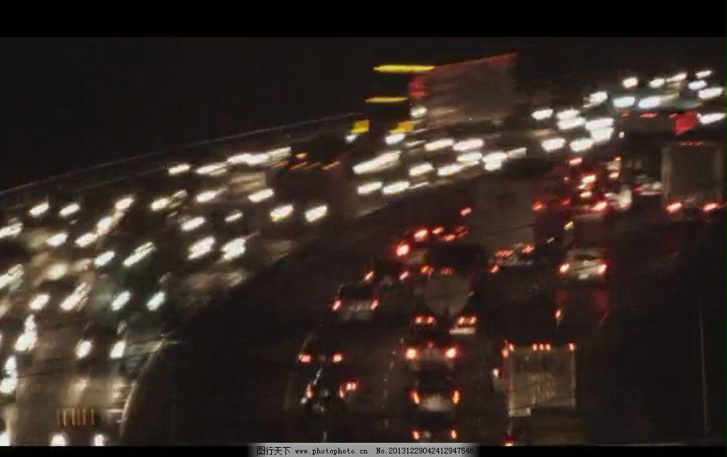 公路夜景视频素材 实拍公路视频 汽车灯光视频 汽车行驶场景视频 城市