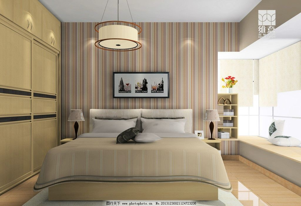 室内设计 衣柜 床 壁纸 灯 家装 家具 3d家装中式效果图精选 3d设计