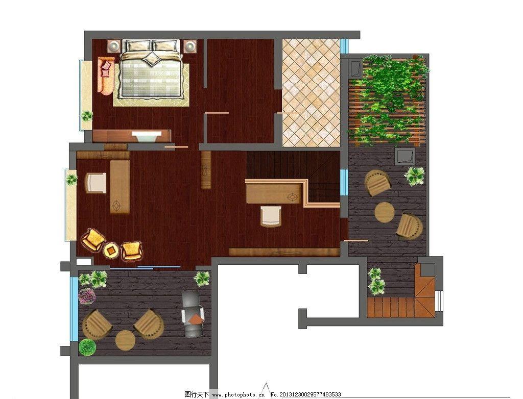 室内 户型彩平图 室内设计 户型 彩色平面 家具 房地产广告 广告设计