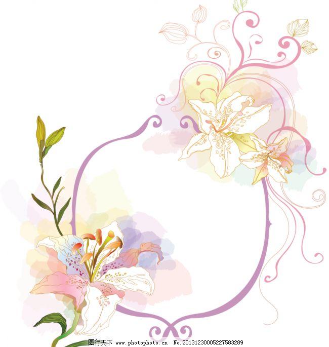 背景 底纹 彩色 边框图案 日本 韩国 流行相框 花朵 卡通 手绘花纹