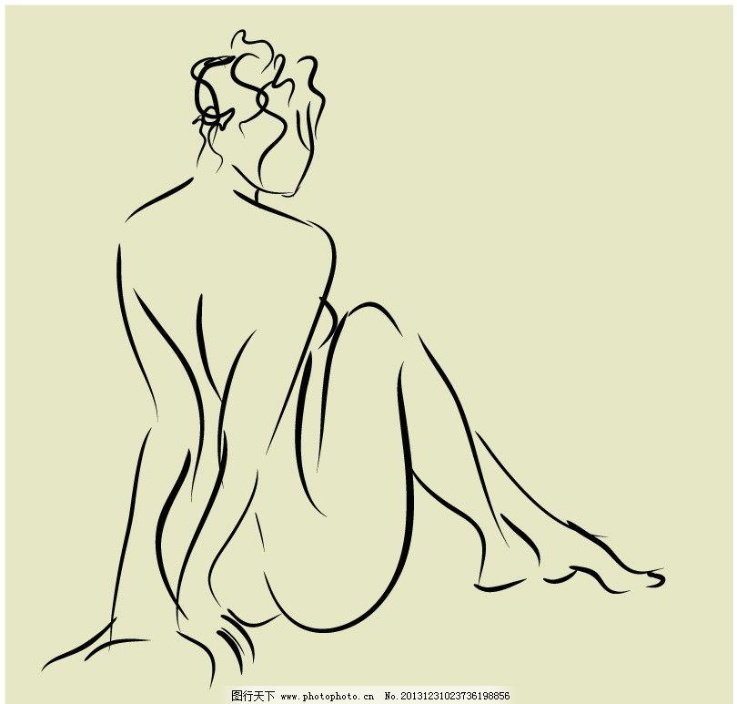 人物 美女 线条 长图片