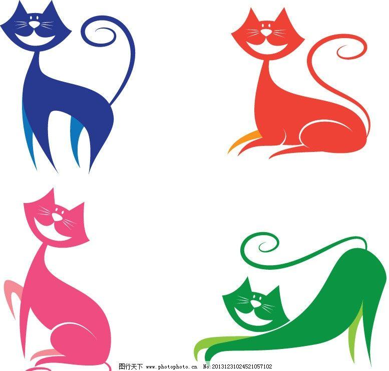 线条猫 小猫 猫咪 线条 可爱 卡通 手绘 动物家禽家畜 家禽家畜 生物