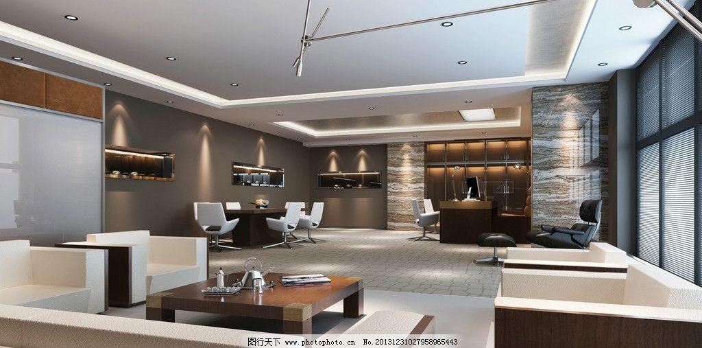 装修效果图 大厅 企业 公司 展厅 公司大堂 办公室 办公环境 吊顶