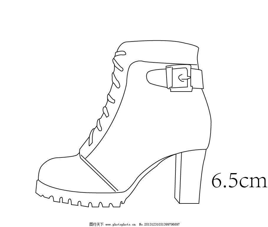 鞋子手绘图图片
