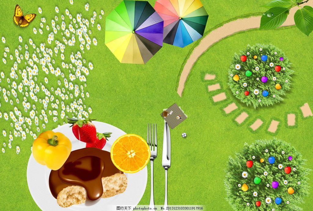看图写话动物野餐