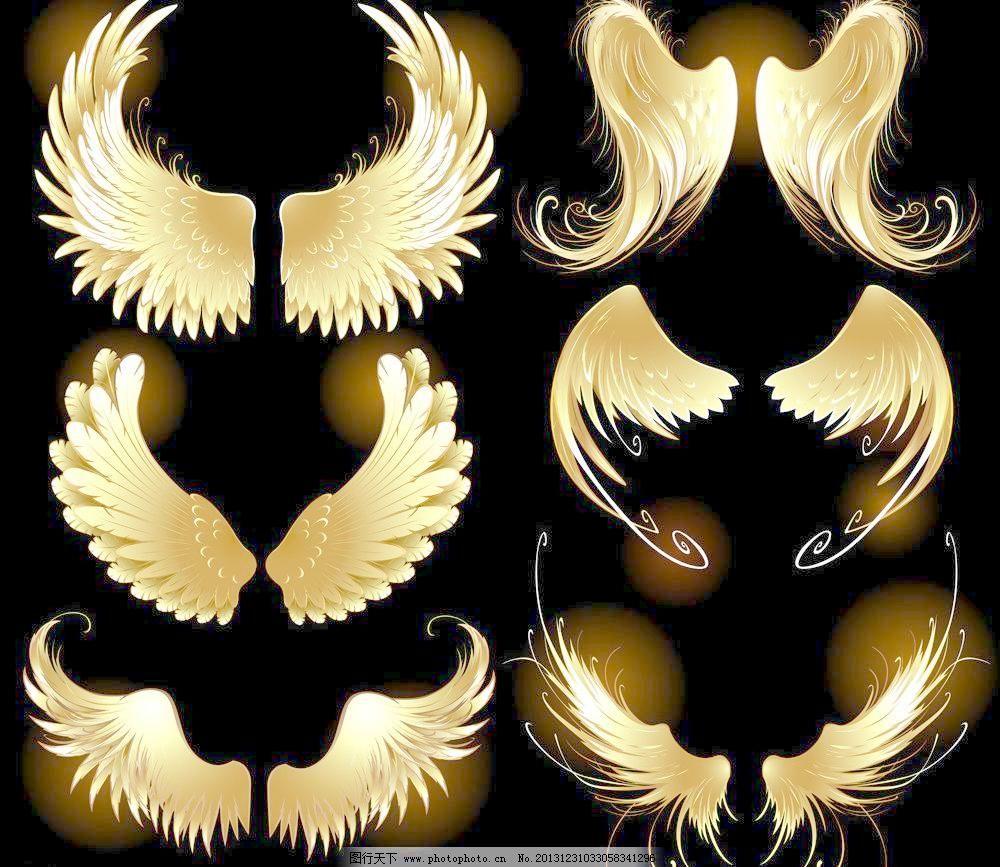 广告设计 广告设计矢量素材 基督教 天使翅膀 纹身图案 艺术设计 翅膀