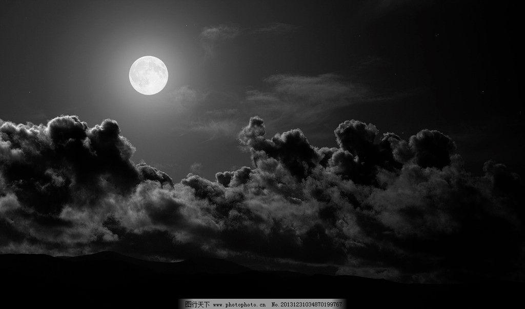 明亮月光 明亮 月光 云朵 桌面 背景 自然风景 自然景观 摄影 100dpi