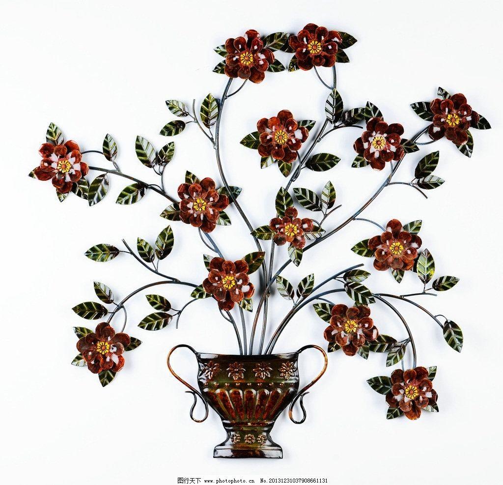 装饰物 室内物品 壁挂 植物 花卉 盆景 铁件 仿真花 kirklands欧式